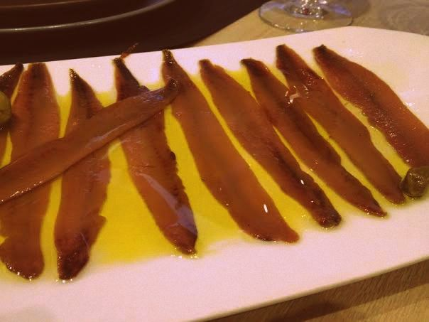 Anchoas en Casa Santoña (Madrid)