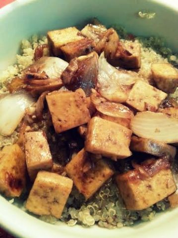 Mongolian Tofu with quinoa