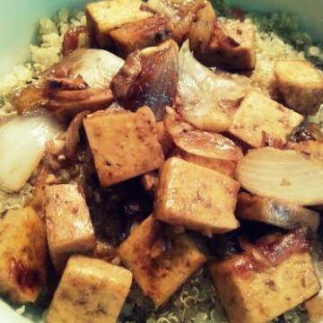 Mongolian Tofu with quinoa