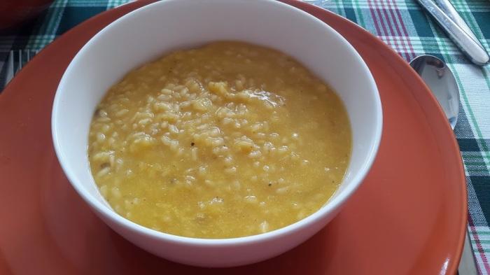 Minestra di riso con la zucca