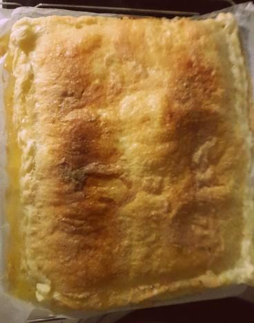 Tarta dulce de jamón y queso