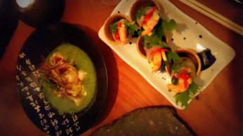 Ensalada vietnamita y ceviche thai
