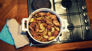 Pollo al horno con limón y tomillo