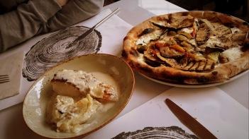 Pizza y merluza