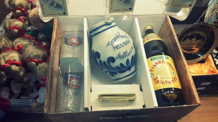Apfelwein - vasos y jarra