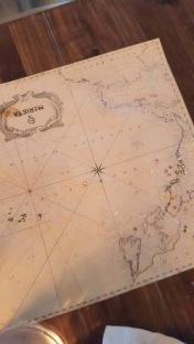 Mantel mapamundi