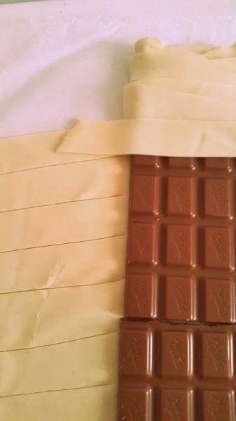 Hojaldre de chocolate: dos ingredientes, unpostre
