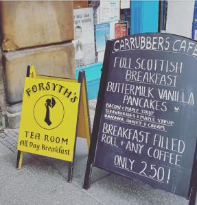 Carteles de desayuno escocés
