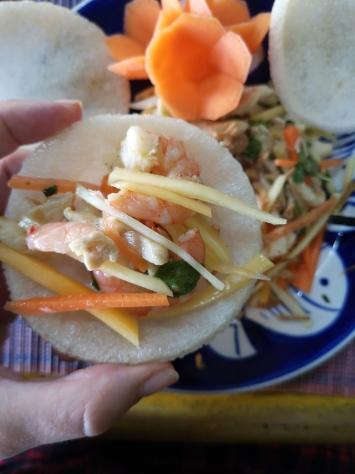 Ensalada de papaya - curso de cocina